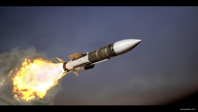 Mô phỏng vụ phóng tên lửa R-37 (Ảnh: RT)