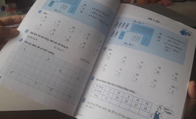 Trong sách giáo khoa, nhất là ở bậc tiểu học đều để sẵn phần cho học sinh làm bài, đánh dấu
