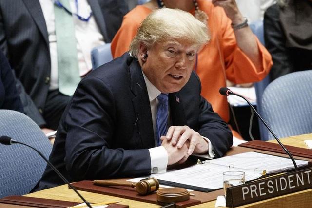 Tổng thống Trump phát biểu tại cuộc họp của Hội đồng Bảo an Liên Hợp Quốc ngày 26/9 (Ảnh: AFP)