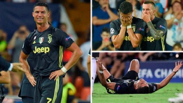 C.Ronaldo chỉ bị treo gio 1 trận vì chiếc thẻ đỏ trong trận đấu với Valencia