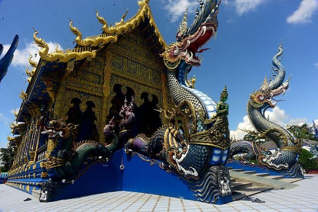Ngôi đền xanh nằm ở tỉnh Chiang Rai, Thái Lan.