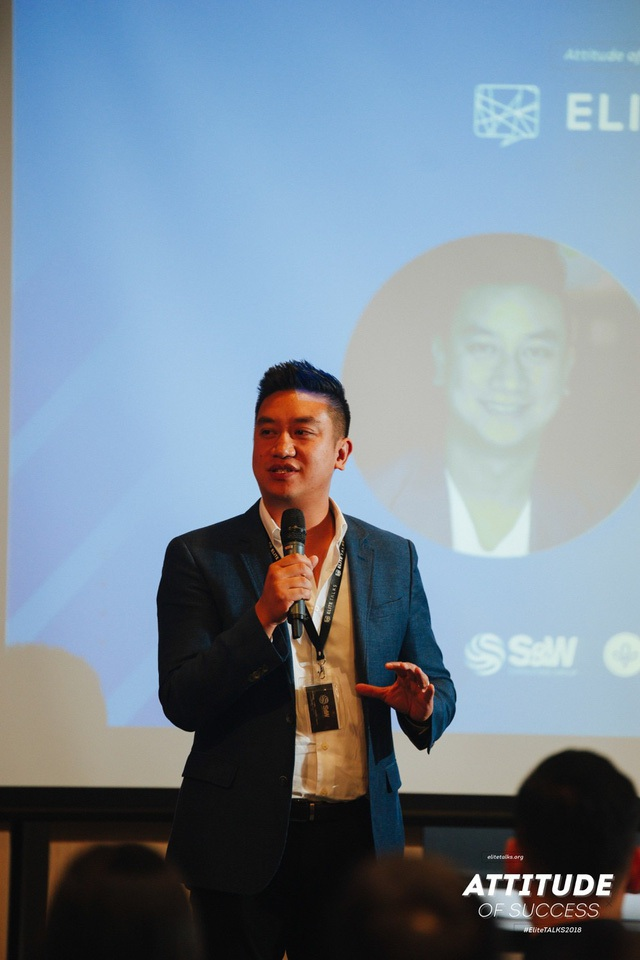 Diễn giả Bảo Hoàng - người đồng sáng lập và giám đốc Roll'd - chuỗi cửa hàng ẩm thực Việt Nam tại Melbourne