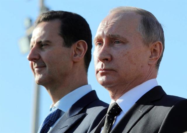 Tổng thống Nga Vladimir Putin và người đồng cấp Syria Bashar Assad (Ảnh: Sputnik)