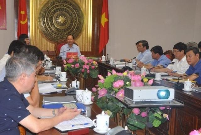 Tỉnh ủy Thanh Hóa tổ chức hội nghị nghe báo cáo thiết kế, quy hoạch tổng thể sơ bộ phân khu chức năng Thành phố giáo dục quốc tế Thanh Hóa.
