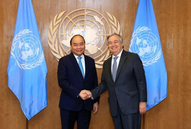 Thủ tướng Nguyễn Xuân Phúc và Tổng Thư ký LHQ Antonio Guterres
