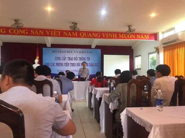 Bộ GD-ĐT tổ chức buổi gặp gỡ cung cấp, trao đổi thông tin giáo dục với các phóng viên