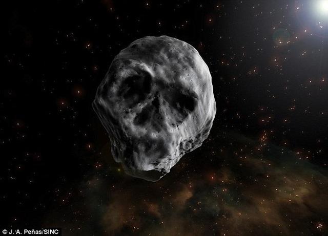 Ảnh đồ họa của SINC về tiểu hành tinh đầu lâu.