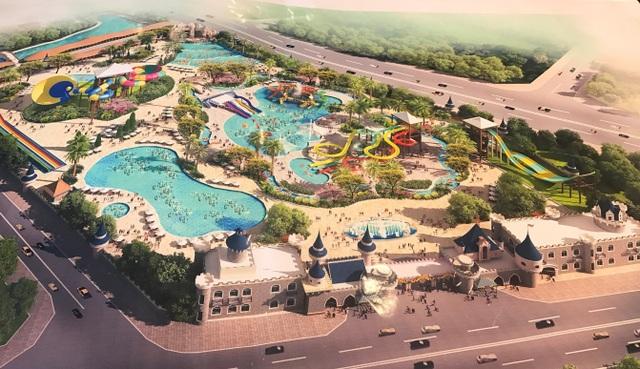 (Công viên nước dự kiến hoàn thành vào năm 2019)