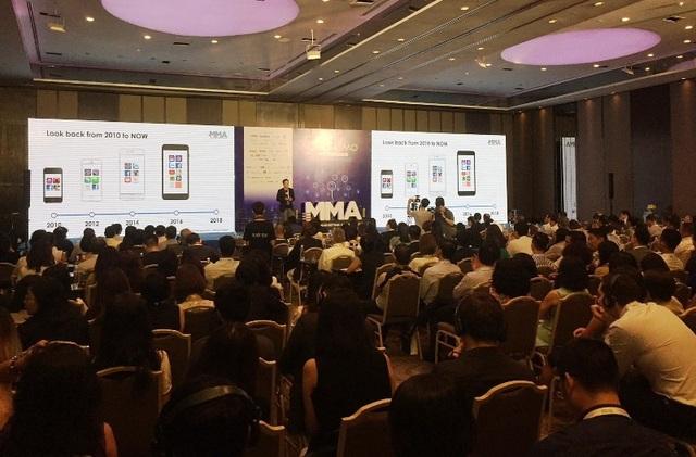 Hội nghị CEO&CMO Việt Nam 2018 do Hiệp hội Mobile Marketing Việt Nam tổ chức tại TPHCM. Ảnh: Đại Việt