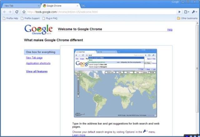 Chrome phiên bản đầu tiên.