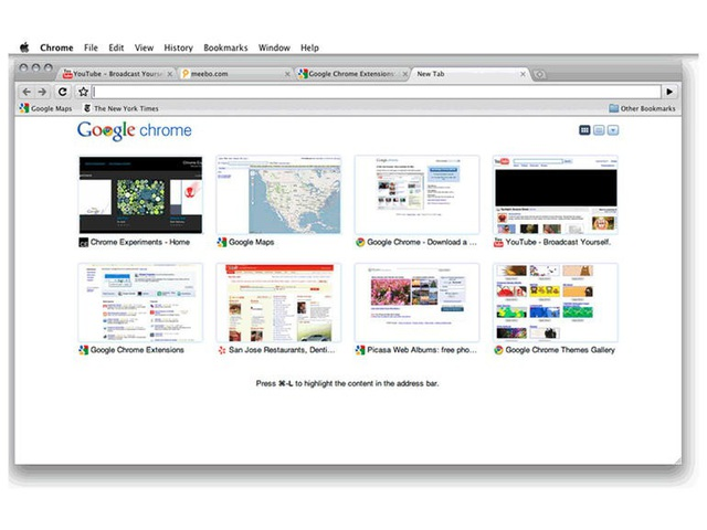 Chrome trên Mac OS.