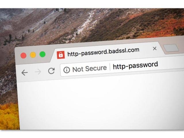 Các website sử dụng giao thức HTTP trên Chrome bị đánh dấu là không an toàn.