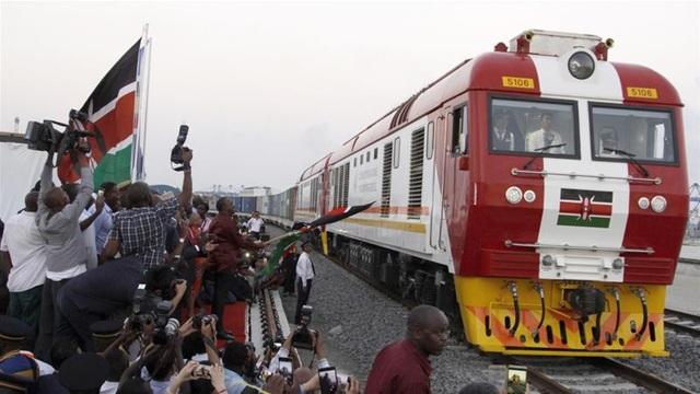 Tàu hỏa tại Kenya là một trong những dự án lớn của Trung Quốc ở châu Phi (Ảnh: AFP)