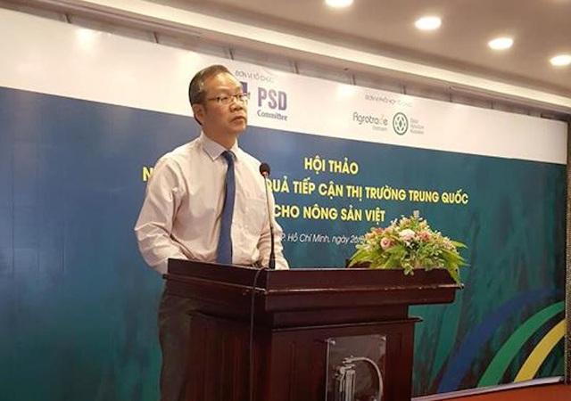 Ông Vĩ Tích Thành cho rằng không nên để người dân tự đi tìm hiểu nhu cầu của người tiêu dùng ở Trung Quốc rồi tự lựa chọn mặt hàng sản xuất.