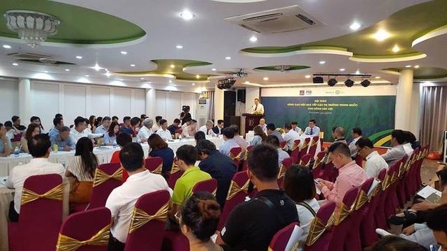 """Hội thảo """"Nâng cao hiệu quả tiếp cận thị trường Trung Quốc cho nông sản Việt"""""""