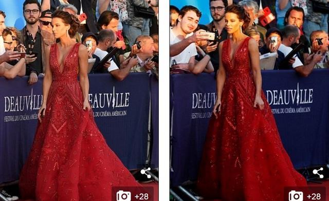 Nữ diễn viên U50 vui vẻ chụp hình cùng fans