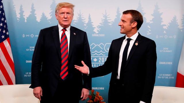 Tổng thống Mỹ Donald Trump và Tổng thống Pháp Emmanuel Macron (Ảnh: Reuters)