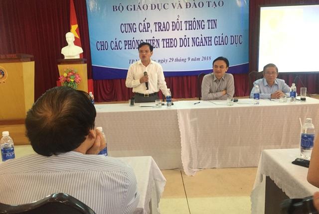 Ông Mai Văn Trinh khẳng định vai trò của các trường ĐH tham gia trong tổ chức kỳ thi THPT Quốc gia năm 2019 sẽ tăng lên