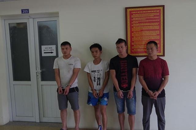 Nhóm đối tượng người Trung Quốc bị bắt giữ