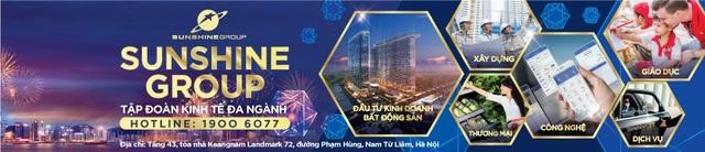 Đầu tư vào nhiều lĩnh vực, Sunshine Group đã và đang khẳng định vị thế của mình trên thị trường Việt Nam