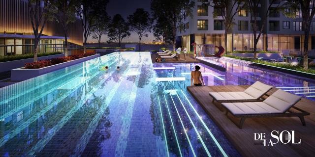 Thiết kế khu vực hồ bơi như một bản nhạc điện tử EDM
