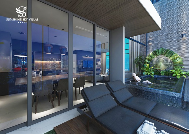 Nếu Sunshine Villas là tái sáng tạo trải nghiệm nghỉ dưỡng trong thành phố thì Sunshine Sky Villas là trải nghiệm nghỉ dưỡng độc bản giữa không trung.