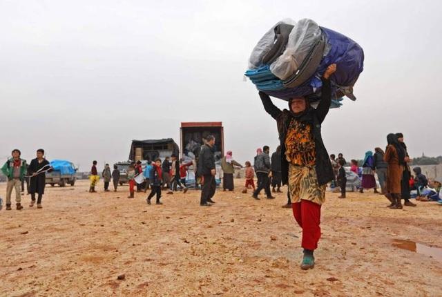 Hàng triệu người ở Idlib có thể phải tìm nơi lánh nạn nếu cuộc chiến cuối cùng xảy ra ở đây. (Ảnh: AFP)