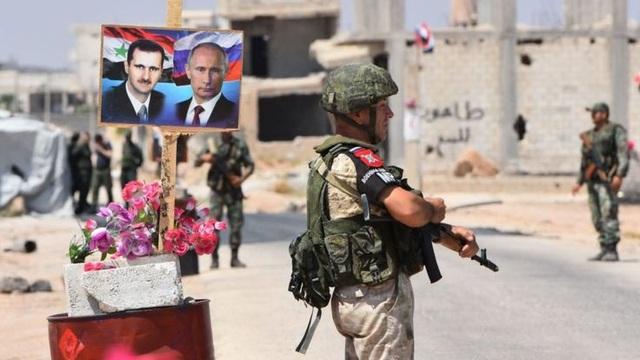Lực lượng Nga đóng vai trò quan trọng trong việc hỗ trợ cho lực lượng chính quyền Syria (Ảnh: AFP)