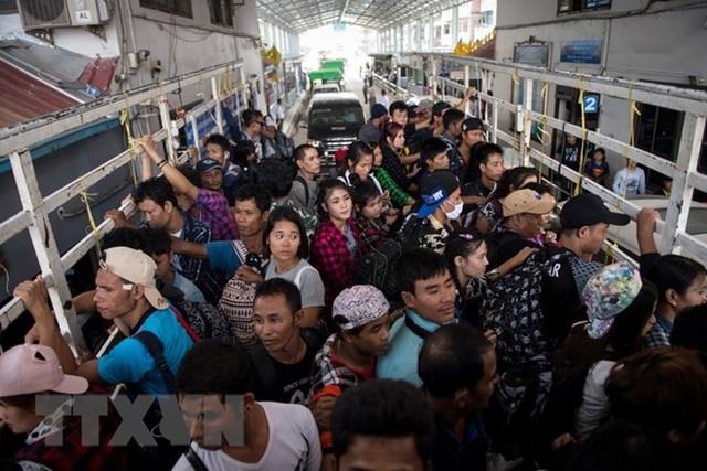 Người lao động nước ngoài tại tỉnh Tak, Thái Lan. (Nguồn: AFP/TTXVN)