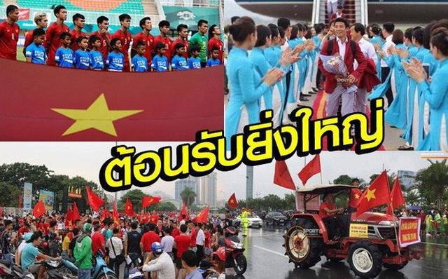 Báo Thái Lan tủi thân với thành công của Olympic Việt Nam