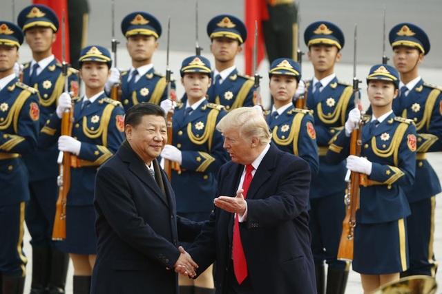 Chủ tịch Tập Cận Bình đón Tổng thống Trump tại Bắc Kinh năm 2017 (Ảnh: AFP)