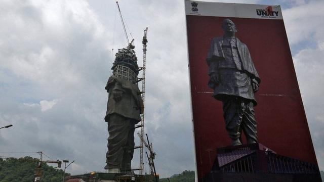 Tượng đài anh hùng dân tộc Ấn Độ Sardar Vallabhbhai Patel được đặt tên Đoàn kết. (Ảnh: Reuters)