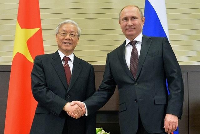 Tổng Bí thư Nguyễn Phú Trọng và Tổng thống Nga V. Putin ( ảnh: RIA)