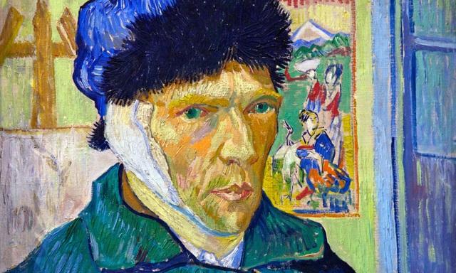 """""""Chân dung tự họa với băng tai"""" của Vincent Van Gogh."""