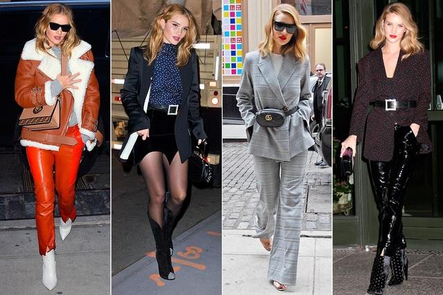 ROSIE HUNTINGTON-WHITELEY là siêu mẫu nên dễ hiểu khi cô mặc gì cũng đẹp