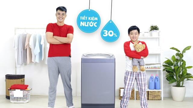 Lồng giặt không lỗ tiết kiệm nước đến 30%