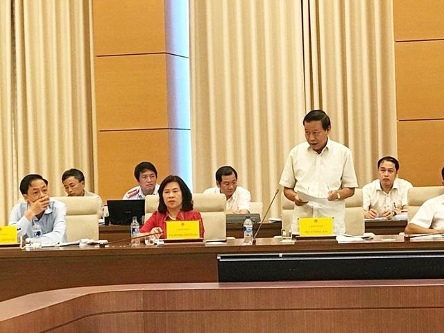 Thượng tướng Lê Quý Vương thông tin về vụ án Vũ nhôm mà nhiều uỷ viên UB Tư pháp quan tâm