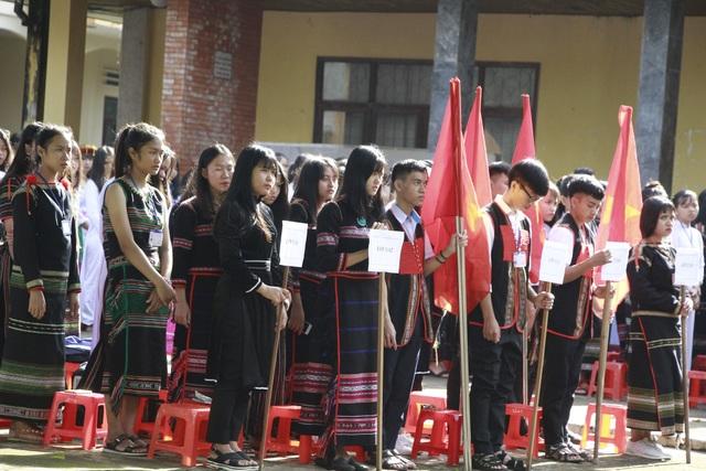 Học sinh đồng bào các dân tộc tỉnh Đắk Lắk trong Lễ khai giảng năm học mới