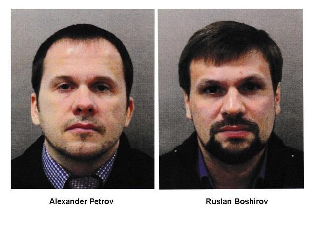 Chân dung 2 nghi phạm Alexander Petrov và Ruslan Boshirov do Anh công bố (Ảnh: Sputnik)