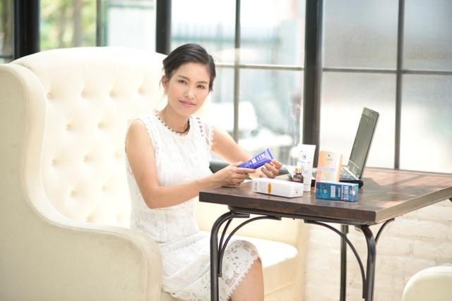 Từ một sản phẩm ban đầu, CEO Nguyễn Thị Giang đã nghiên cứu sản xuất thành công 12 sản phẩm chăm sóc da cho Chaveny
