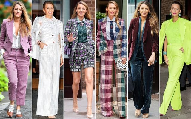 BLAKE LIVELY gây sốc khi thay tới 6 bộ trang phục trong 1 ngày đi quảng bá phim mới cách đây ít tuần. Nữ diễn viên xinh đẹp nổi tiếng là người sành điệu, có gu thời trang tinh tế