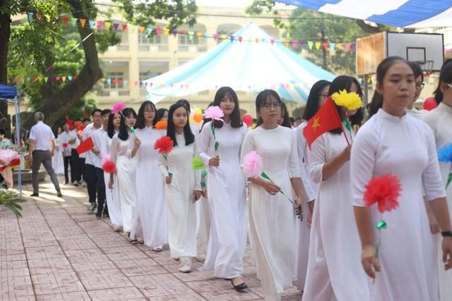 Lễ khai giảng tại trường THPT Việt Đức, Hà Nội.