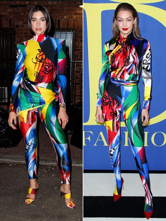 DUA LIPA & GIGI HADID nổi bật với bộ cánh bảy mùa của Versace