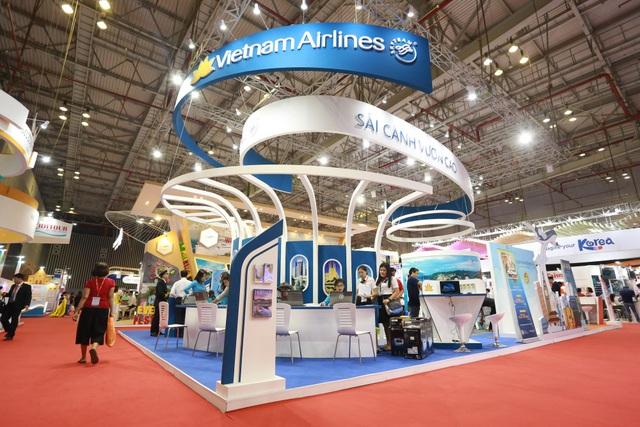 Gian hàng của Vietnam Airlines tại Hội chợ ITE