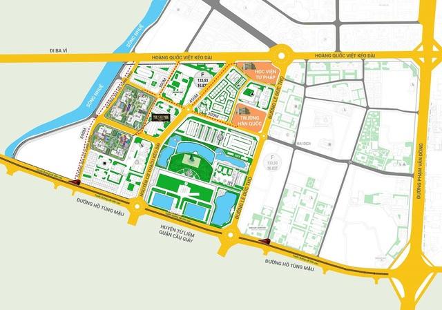 TNR Sky Park nằm ngay tại điểm giao cắt giữa các tuyến giao thông huyết mạch, hạ tầng được kết nối đồng bộ.