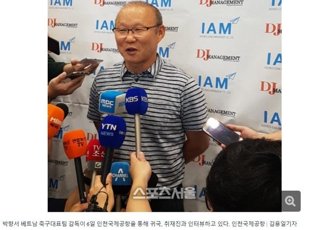 HLV Park Hang Seo trả lời phỏng vấn báo giới Hàn Quốc