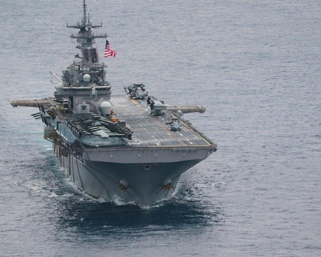 Tàu sân bay USS Wasp (Ảnh: US Navy)
