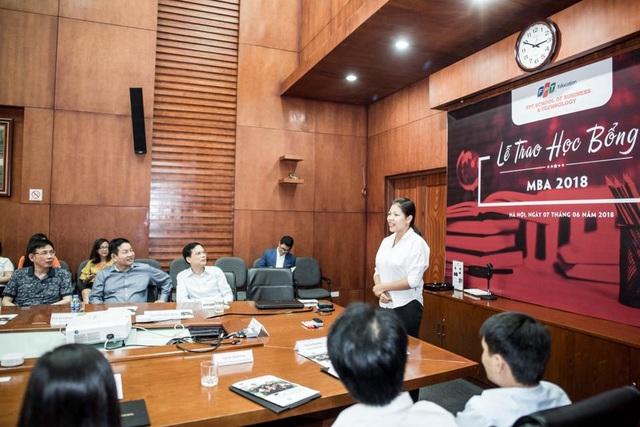 Chị Dung là một trong những học viên xuất sắc được nhận học bổng của FSB.