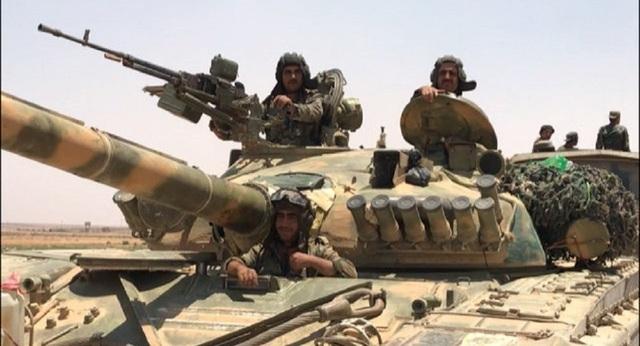Binh sĩ Syria ở khu vực biên giới với Jordan (Ảnh: Sputnik)