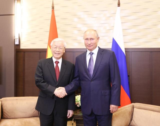 Tổng thống Nga Vladimir Putin đón Tổng Bí thư Nguyễn Phú Trọng